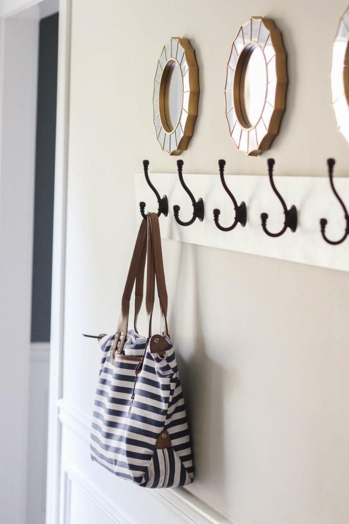 1. DIY Wall-Mounted Coat Rack