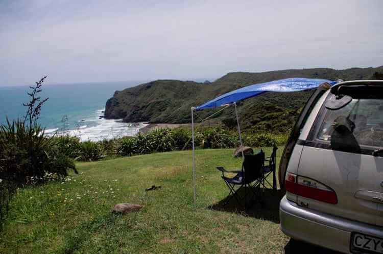 1. DIY campervan awning