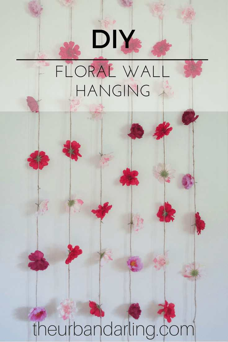 1. Hanging Flower Wall