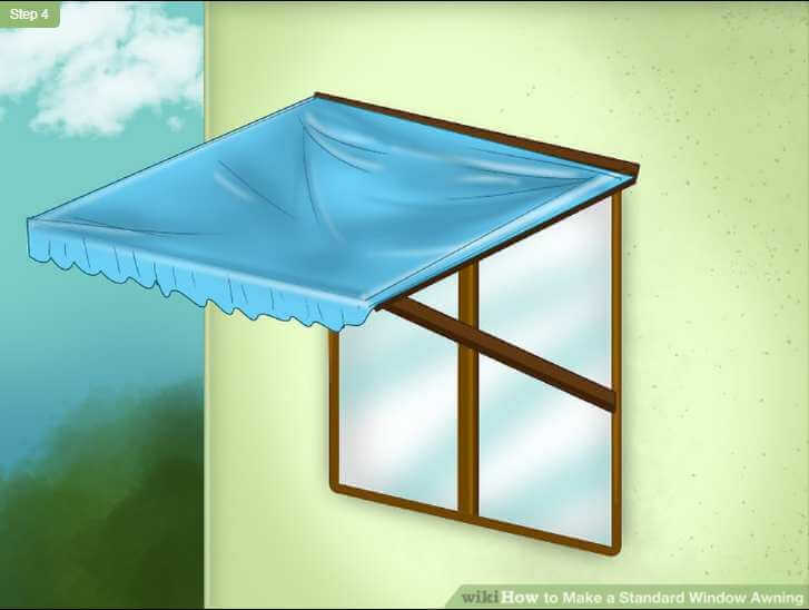 1. WikiHow's standard DIY awning