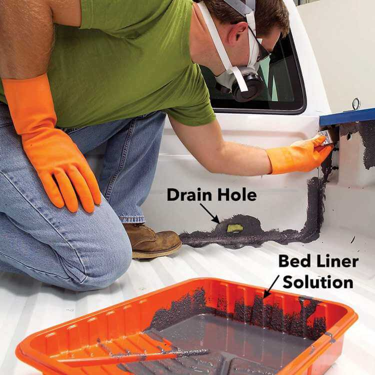 10. Apply a bed liner