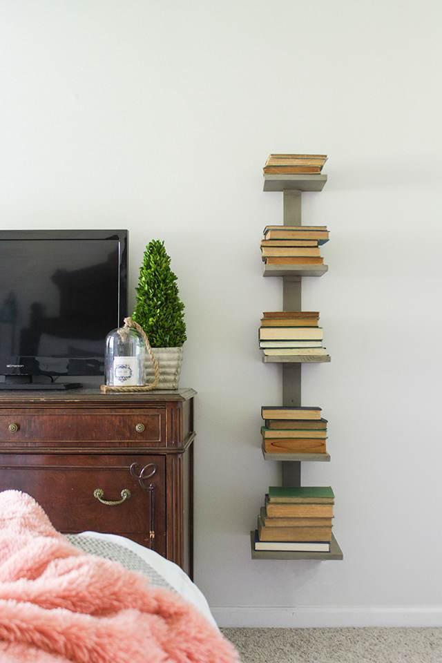 10. Bedside Spine Bookshelf