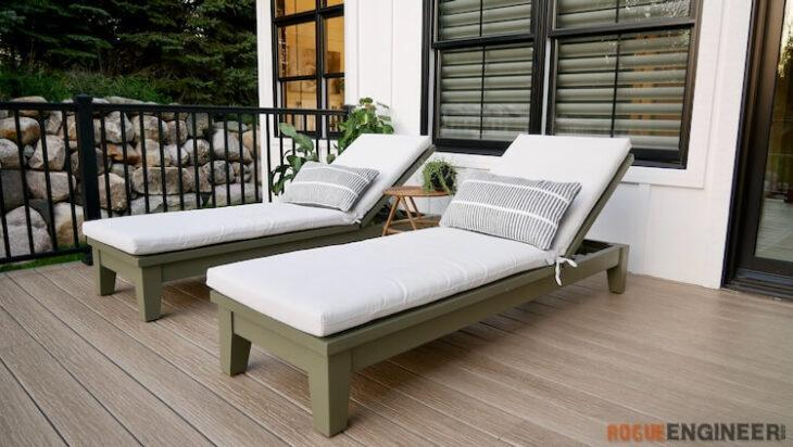 10. DIY Outdoor Chaise Lounge Chair