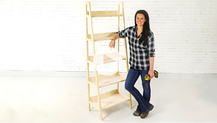 10. How To Build A Leaning Ladder Bookcase
