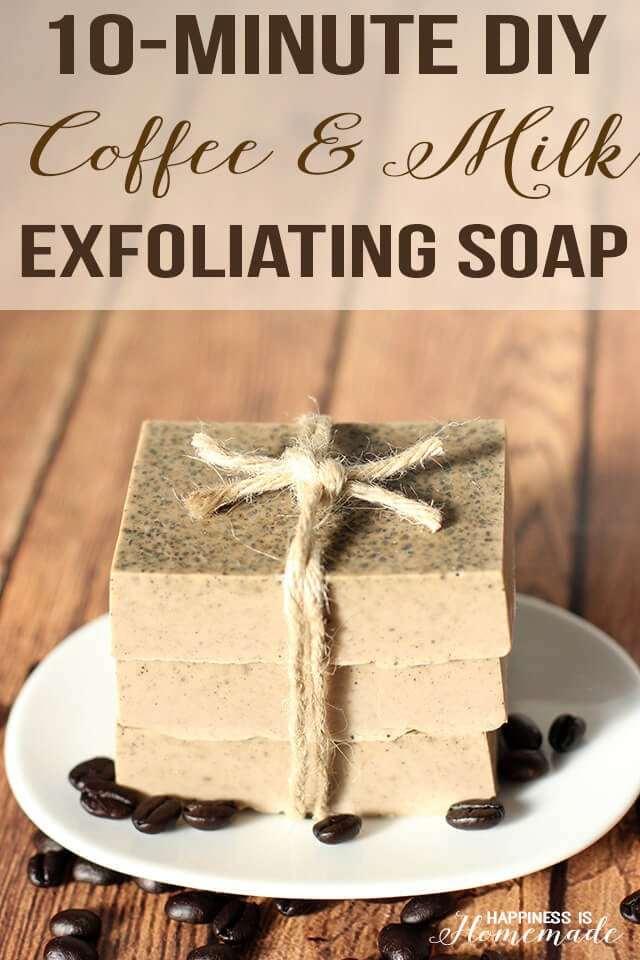 10. Milk & Coffee Exfoliating Soap