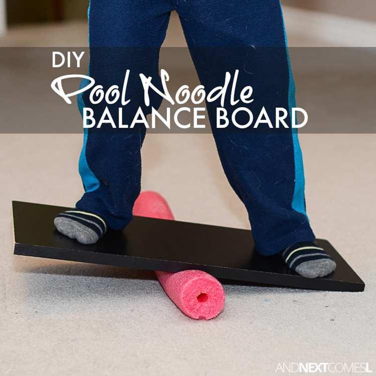 10. Pool Noodle Balance Board