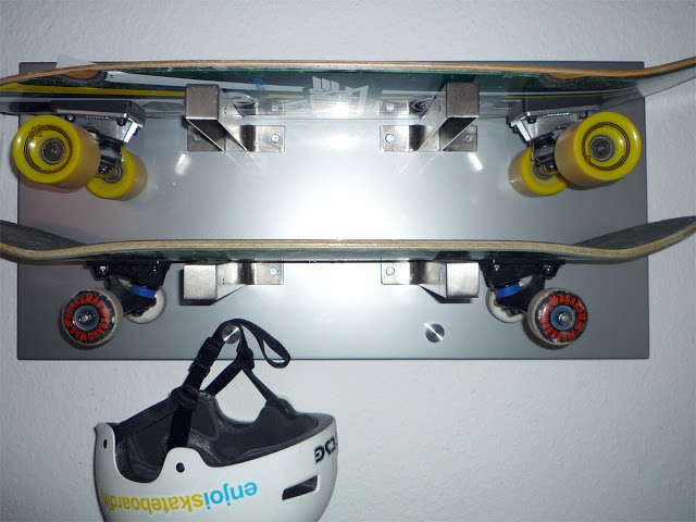 10. Skateboard Wall Rack