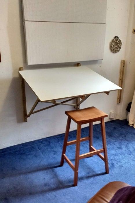 11. DIY CNC Wall Mounted Desk