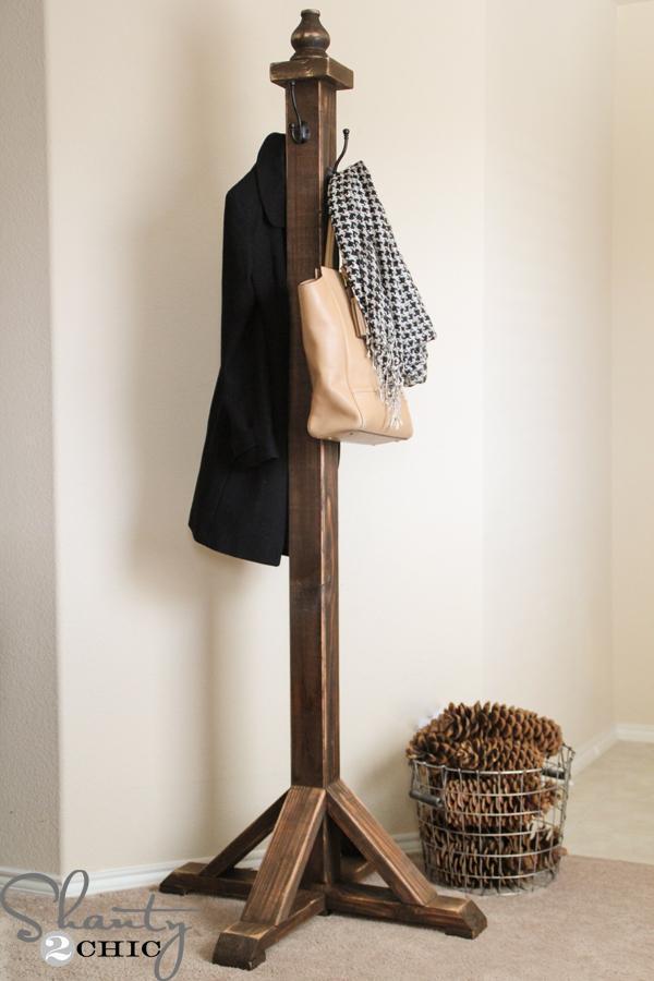 11. DIY Coat Rack