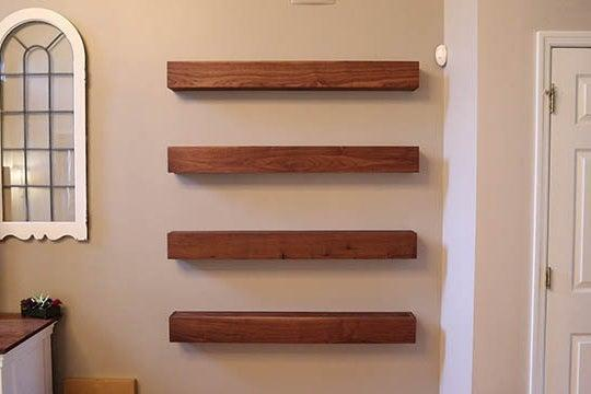 11. DIY Floating Shelves With Waterfall Ends