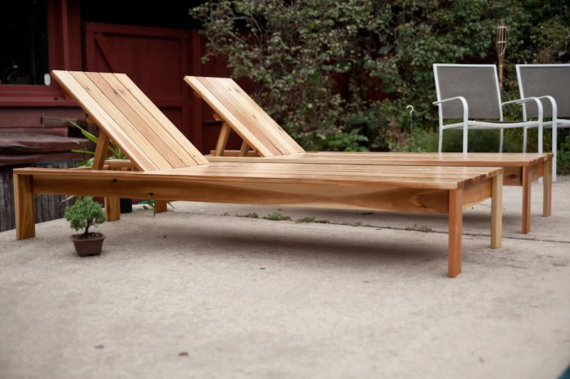 11. DIY Modern Single Outdoor Chaise Lounge