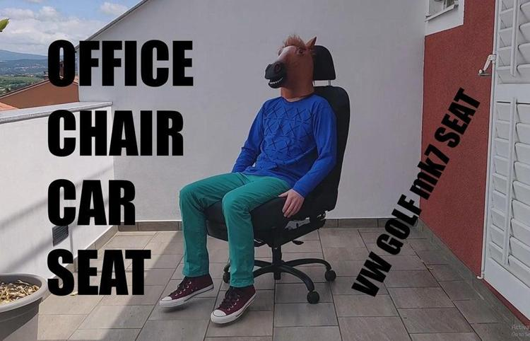 11. DIY Office Chair From Car Seat