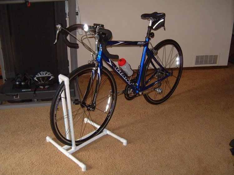 11. DIY PVC Bike Rack