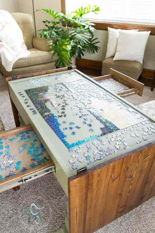11. DIY Puzzle Game Table