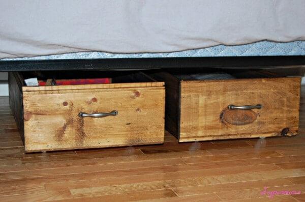 11. DIY Rolling Underbed Storage Crates