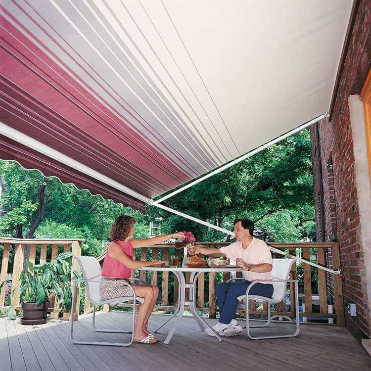 11. How to build a retractable awning that has hidden supports