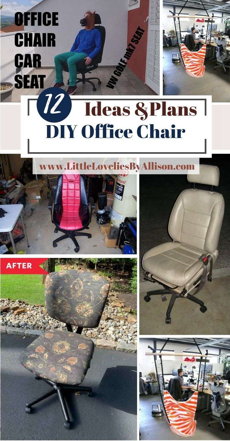 12 DIY Office Chair Plans_ Do It Yourself Easily