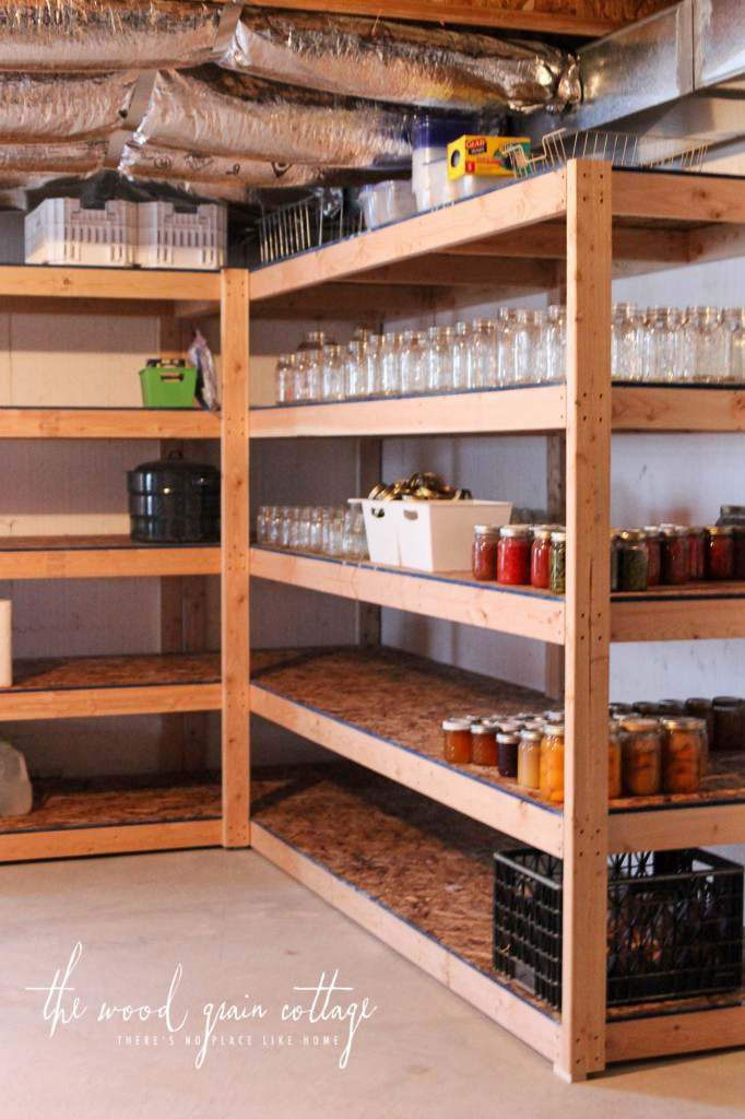 12. DIY Basement Storage Shelves