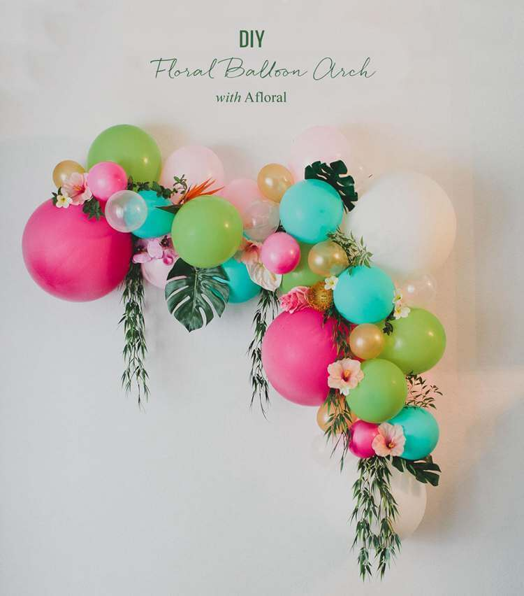 12. DIY Floral Balloon Arch