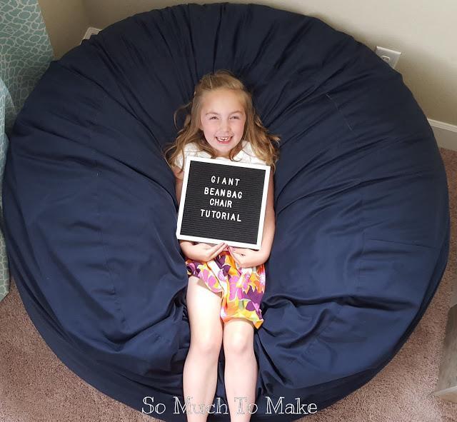 12. DIY Giant Bean Bag Chair