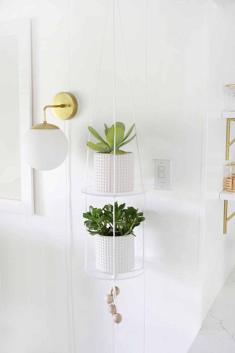 12. DIY Hanging Acrylic Shelf