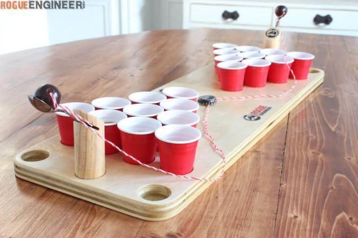 12. DIY Mini Beer Pong Table