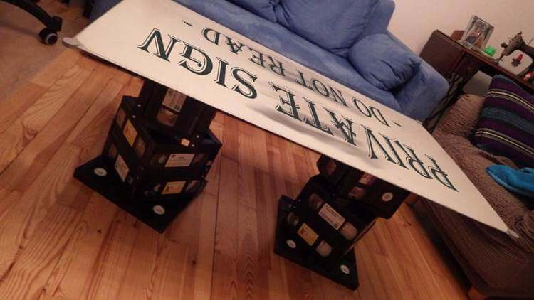12. DIY VHS Couch Legs
