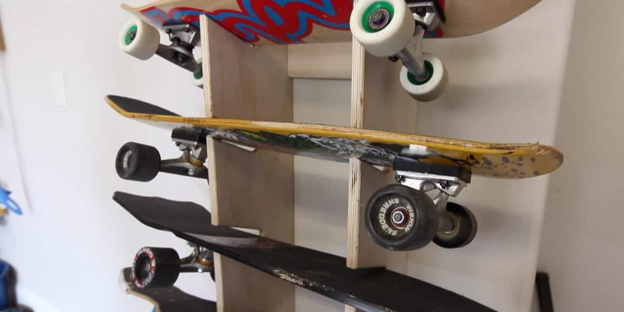 12. Extended Skateboard Rack