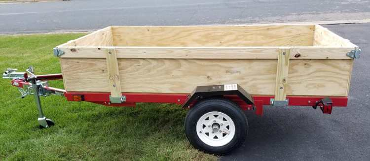 12. Harbor freight trailer with removable sides