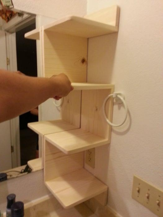 12. How To Make Floating Corner Shelves