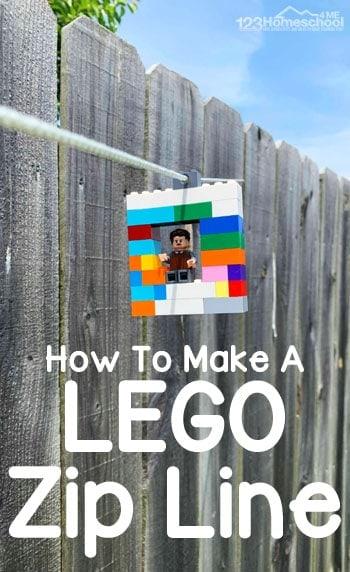 12. Lego DIY Zipline