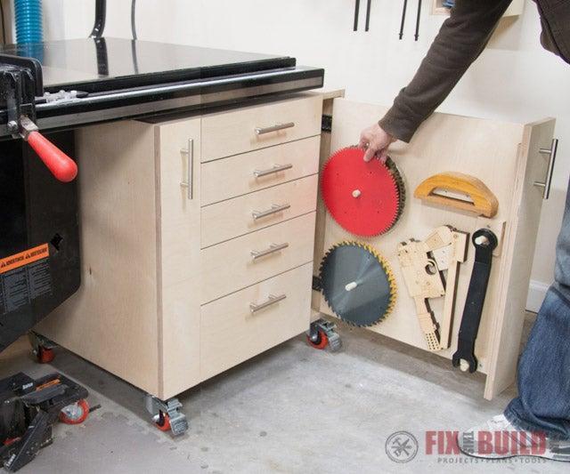 13. DIY Mobile Storage Cabinet