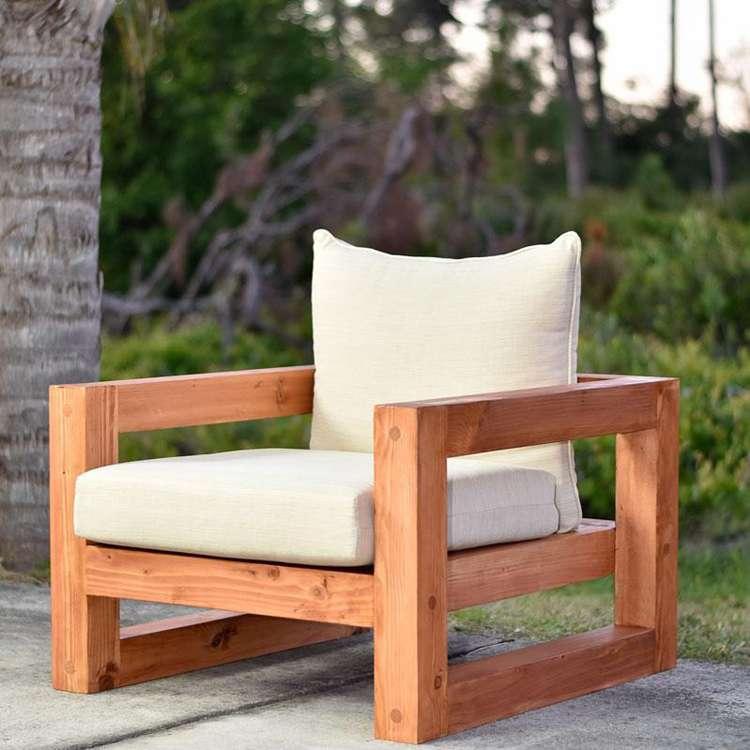 13. DIY Modern Outdoor Chair Free Plans
