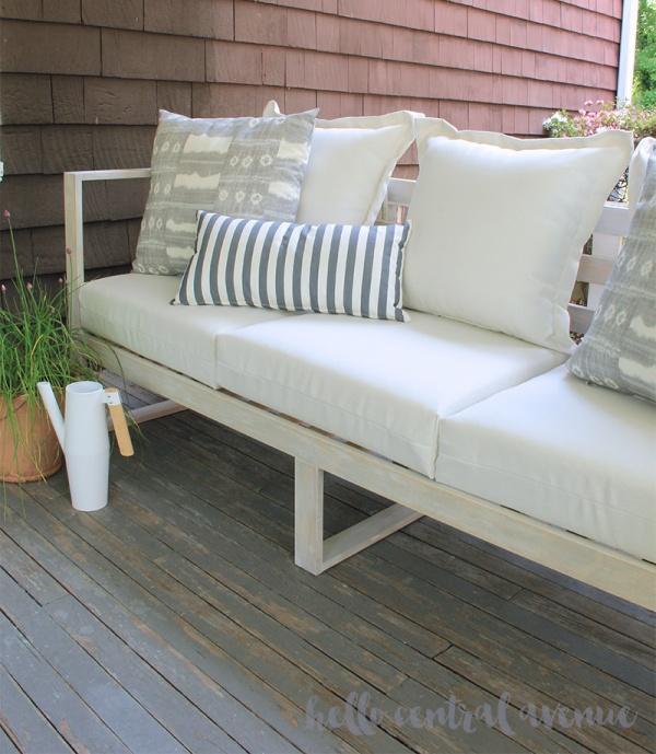 13. DIY Outdoor Sofa