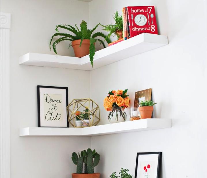 13. DIY Rocket Corner Shelf