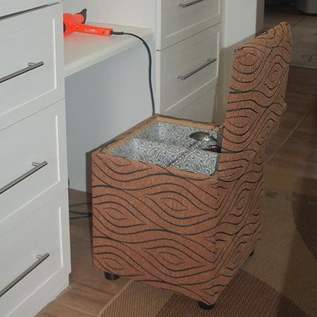 13. DIY Upholstered Storage Ottoman