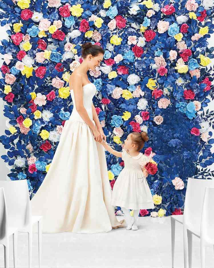 13. Wedding Faux Flower Wall