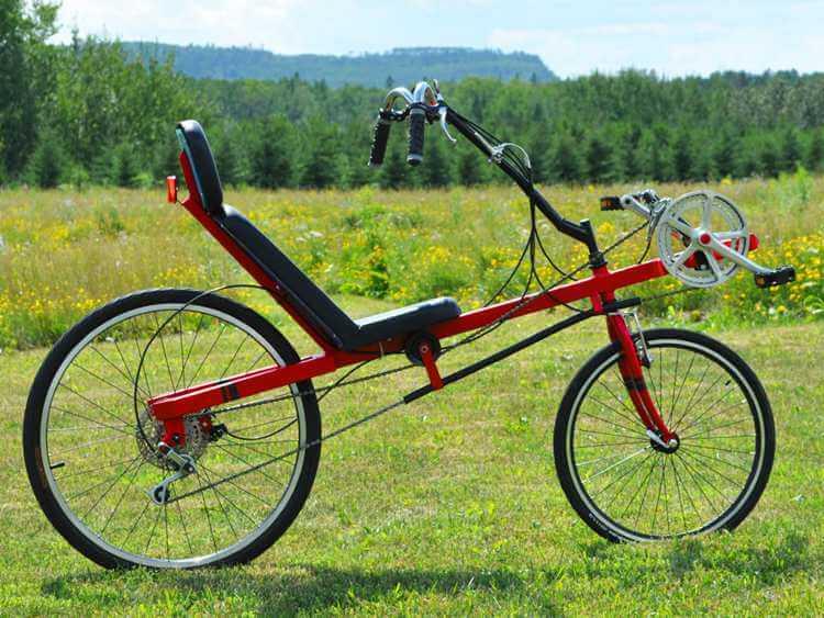 13. Wide wheelbase recumbent racing bike