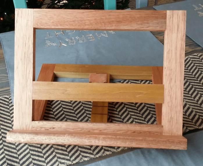 13. Wooden Cookbook Stand