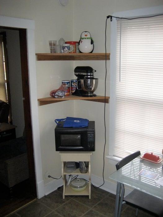 14. DIY Corner Shelf For Bathroom