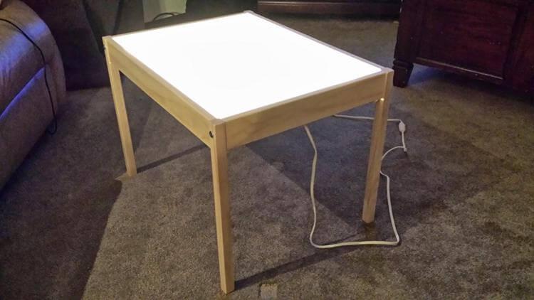 14. DIY Light Table