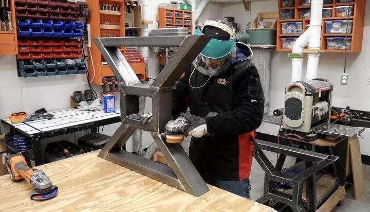 14. DIY Metal Table Legs