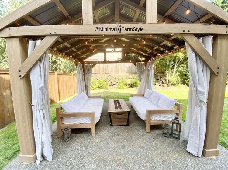 14. DIY Outdoor Sofa Build