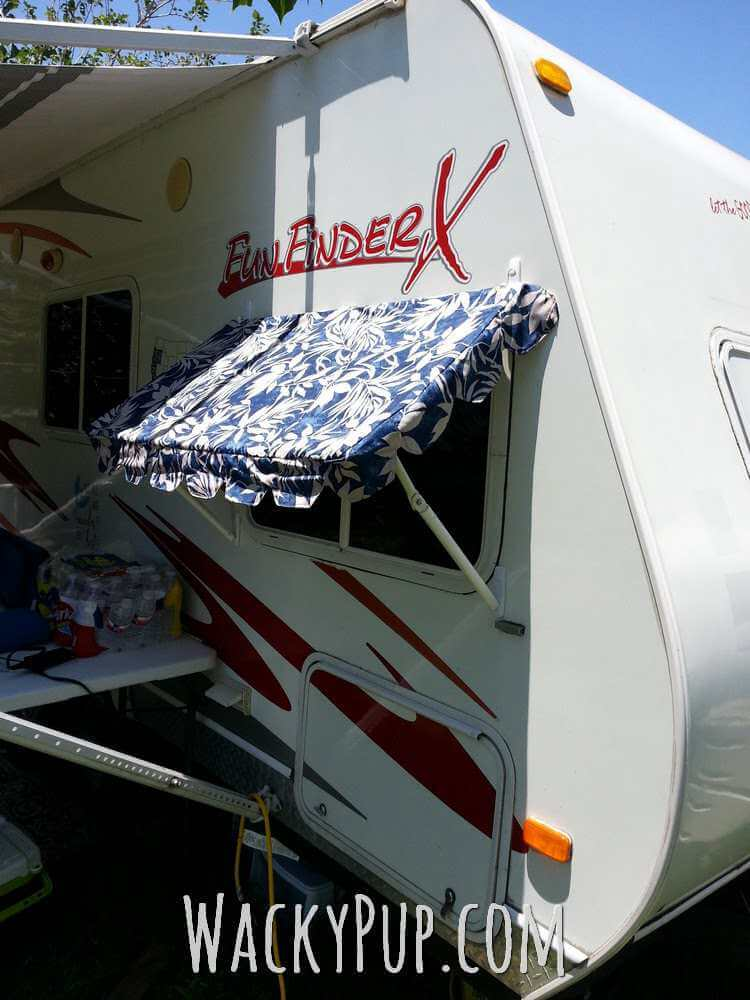 14. DIY PVC awnings for your camper