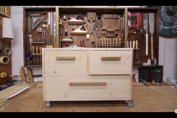 14. DIY Rolling Storage Cabinet
