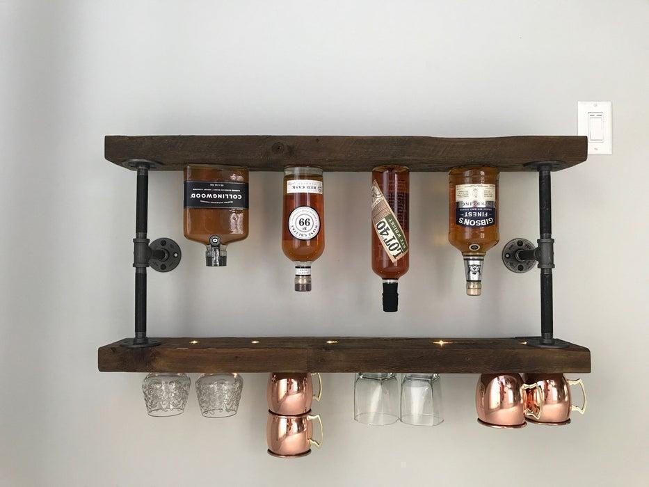 14. DIY Whiskey Wooden Shelf