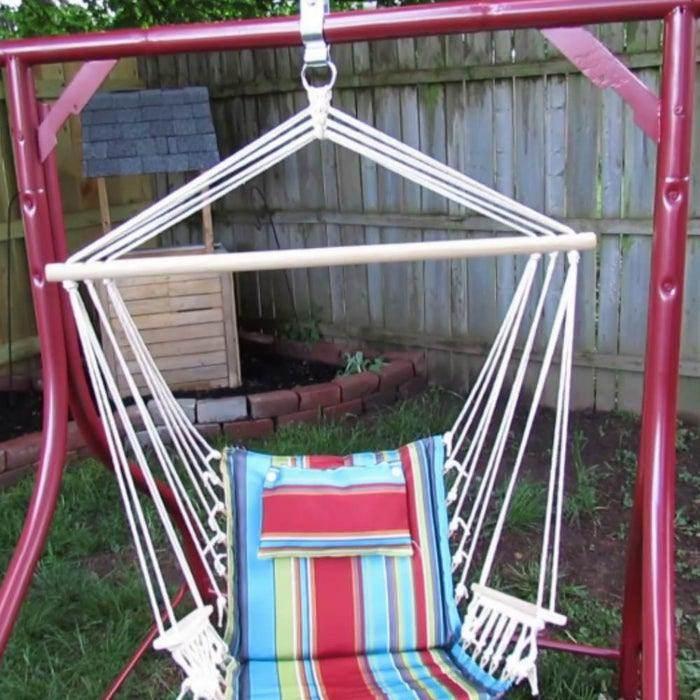 14. Hammock Chair From Old Swing Frame DIY