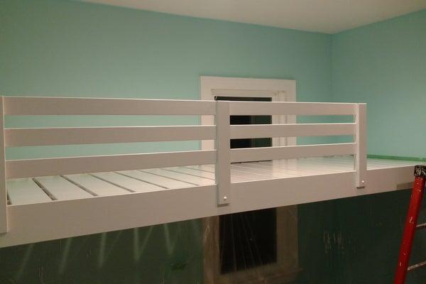 14. Loft Bed Floating DIY