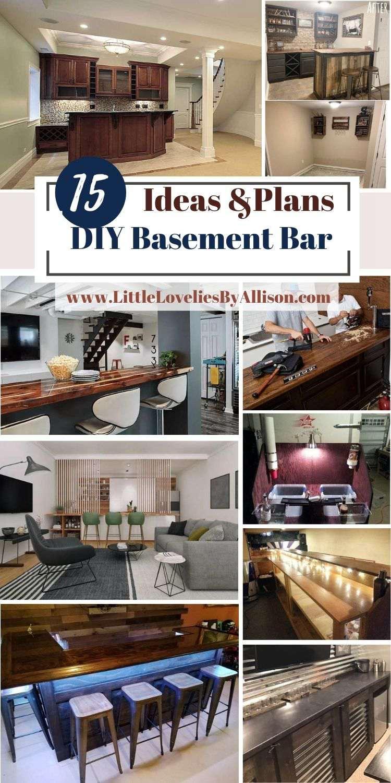 15 DIY Basement Bar Projects_ How To Build A Basement Bar