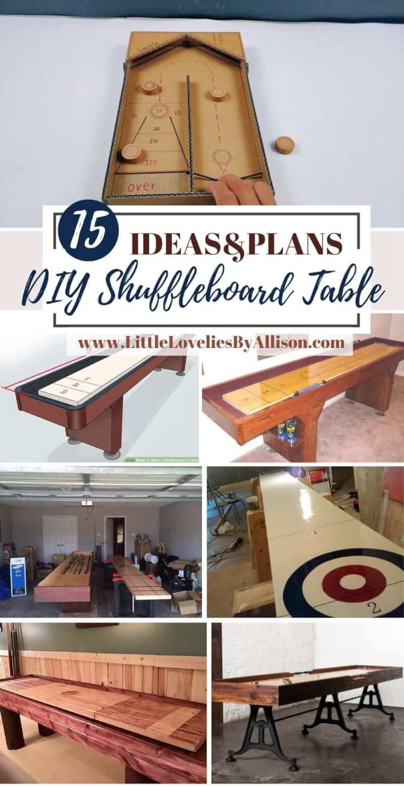 15 DIY Shuffleboard Table Projects_ Do It Yourself Easily